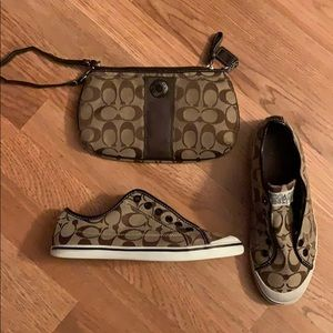Coach bag and matching sneakers